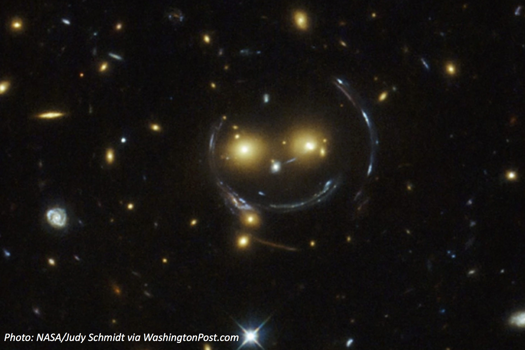 Smiley Face in Space