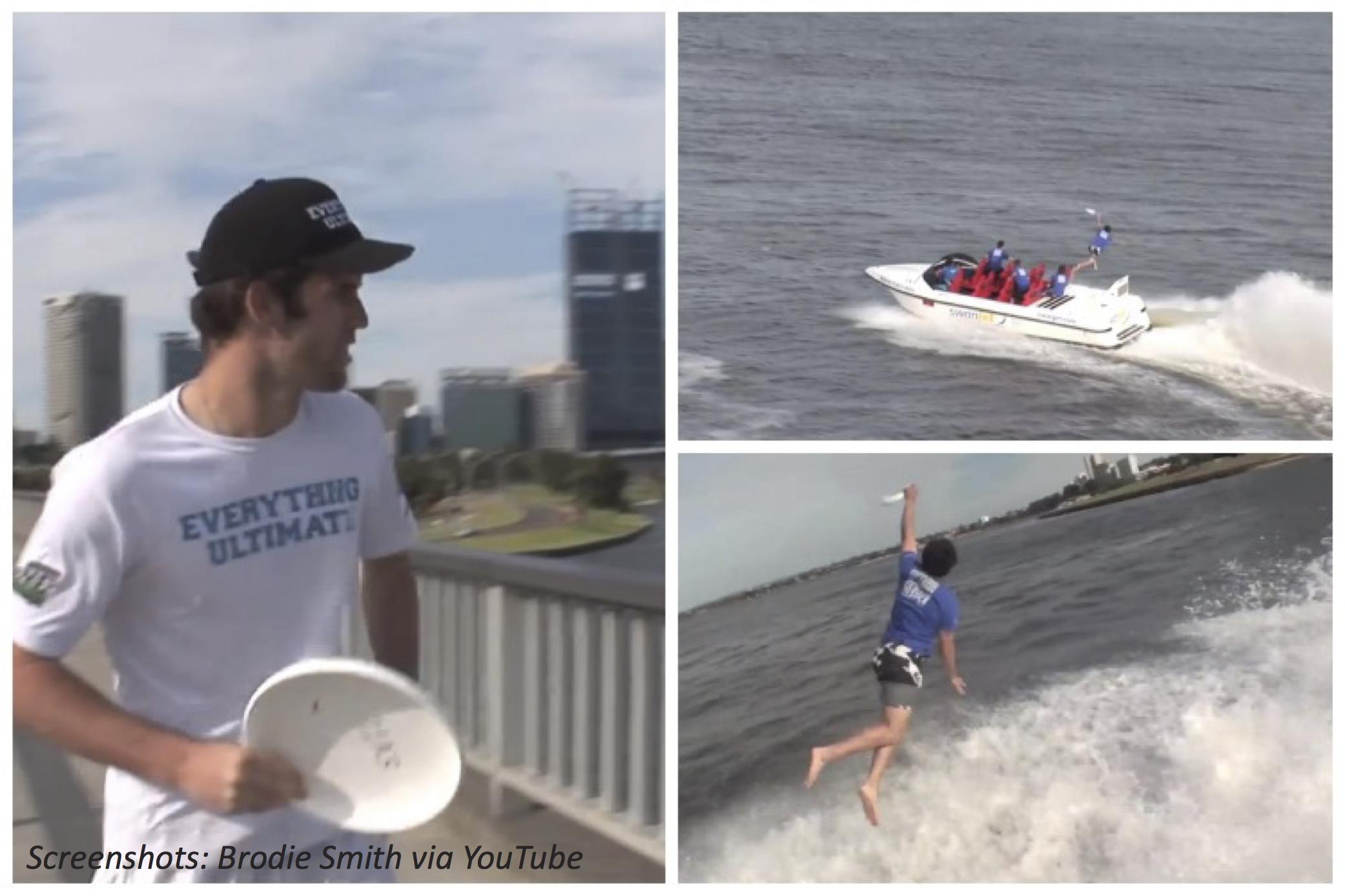 Flying Frisbee Stunt