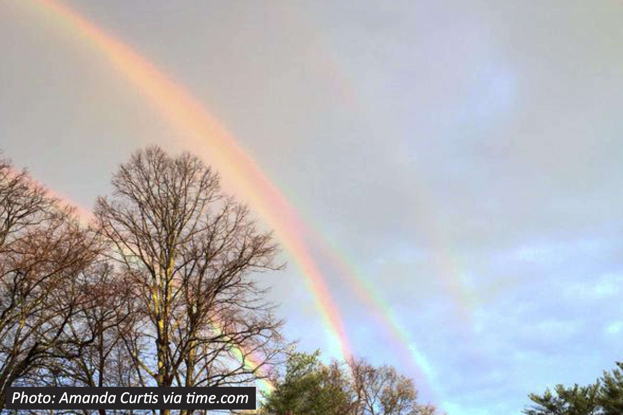 Real Quadruple Rainbow
