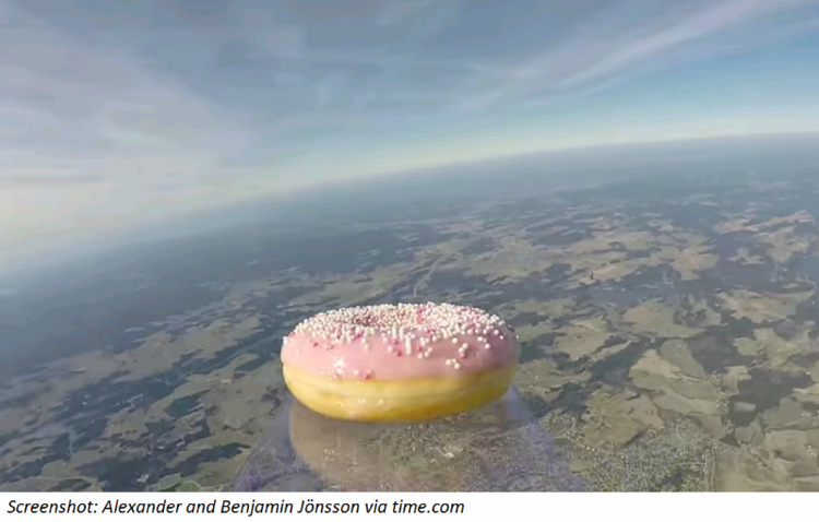 Donut in Outer Space