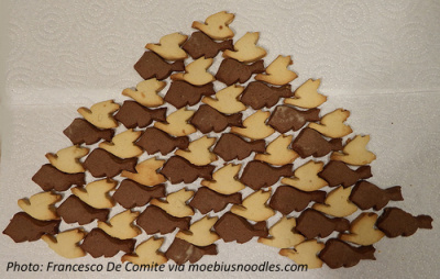 Escher geese and fish cookies