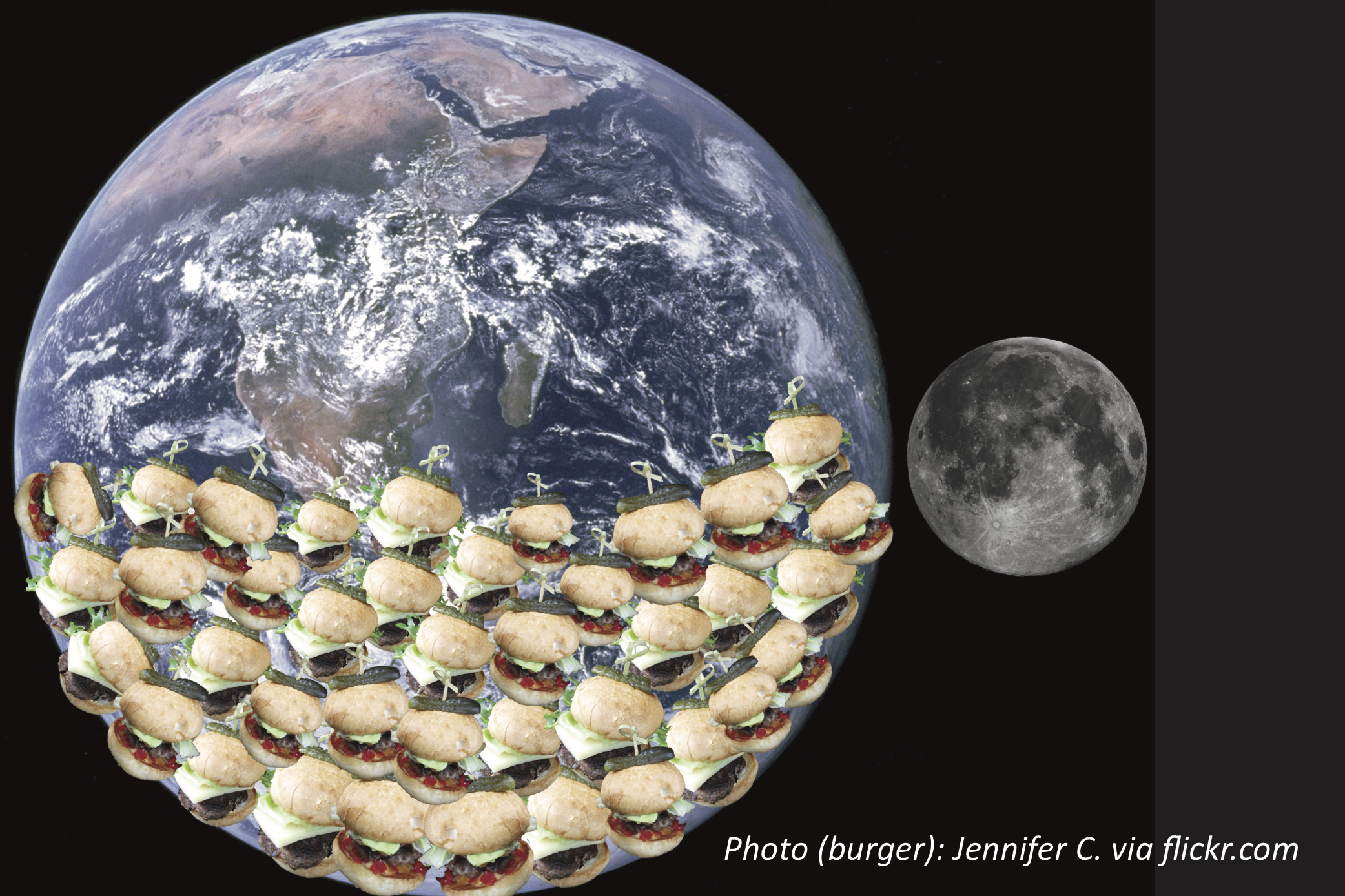 How Many Burgers Could Fit Inside Earth?