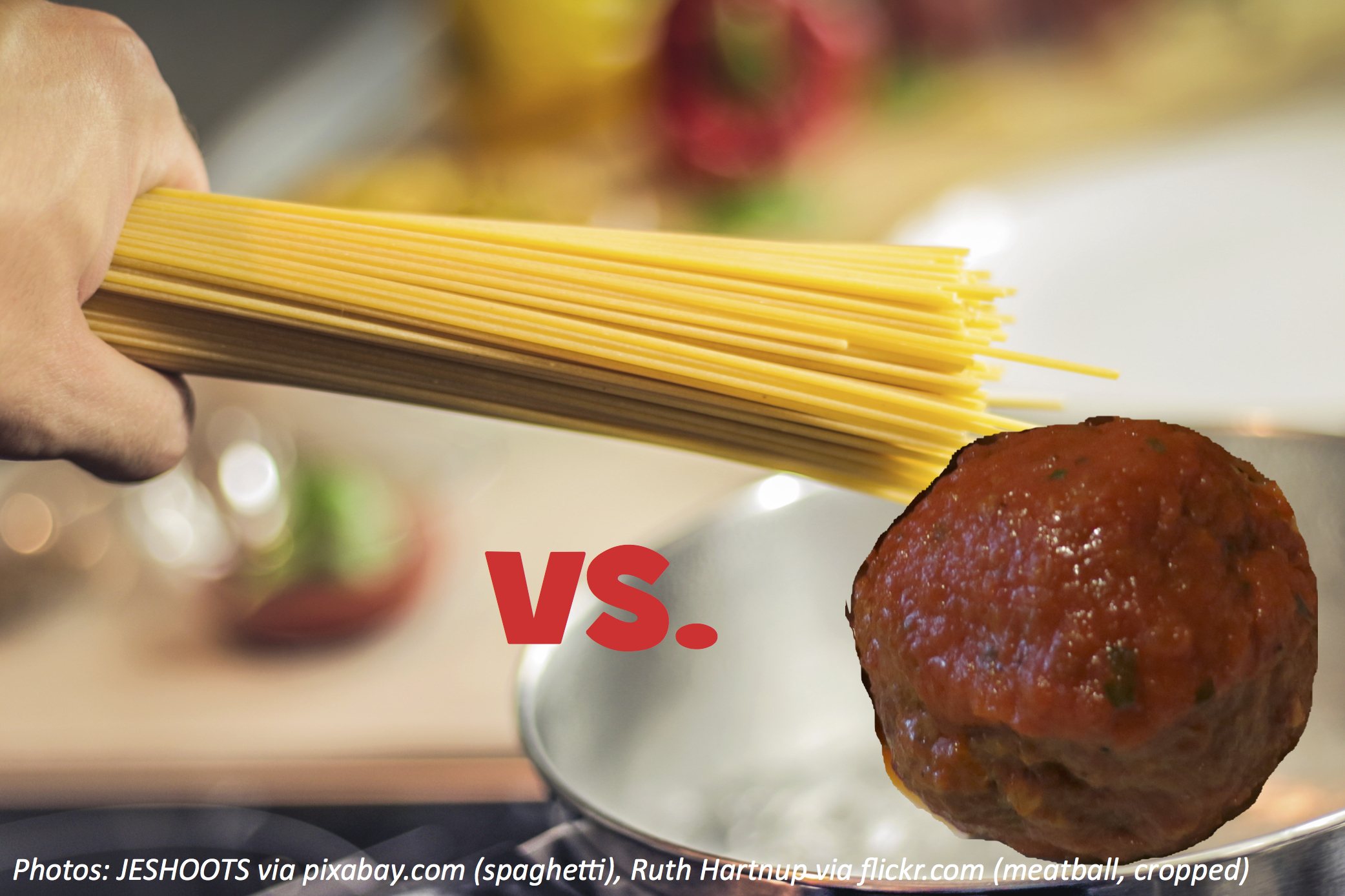 Which One Wins, the Spaghetti or the Meatball?